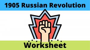 1905 Russian Revolution worksheet