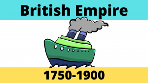 British Empire from 1750-1900 and raw materials