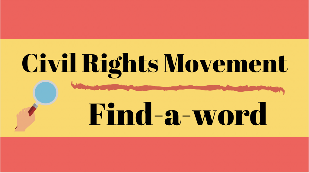 Civil Rights Movement Find-a-word