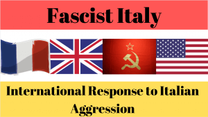 International Response to Italian Aggression