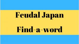 Feudal Japan Find-a-word