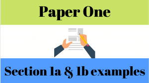 IB Paper 1 Section 1A and 1B Example Worksheet