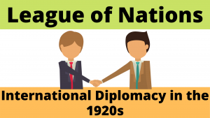International Diplomacy in the 1920s outside of the League of Nations