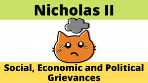 Social, Economic and Political Grievances during the reign of Nicholas II