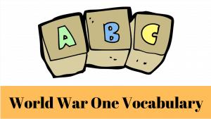 First World War Vocabulary Handout