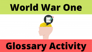 World War One Glossary Activity