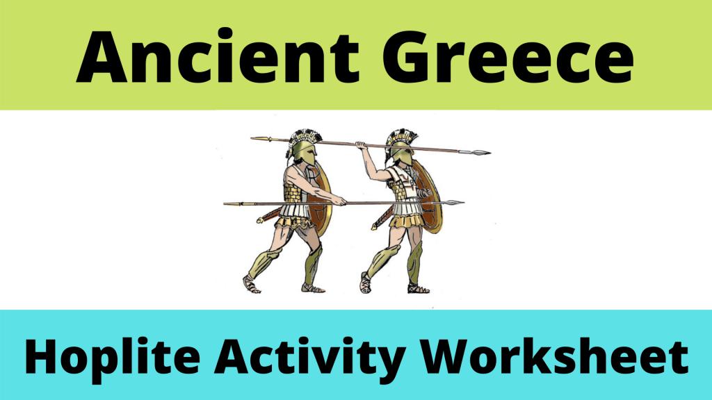 Hoplite Worksheet Activity
