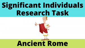 Significant Individuals Research Task on Ancient Rome