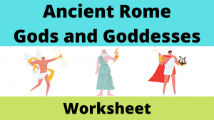 Ancient Roman Gods and Goddesses Worksheet