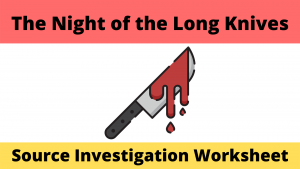 Night of the Long Knives Rohm Source Investigation
