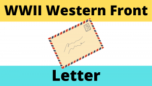 Letter from the Front Line of the Western Front