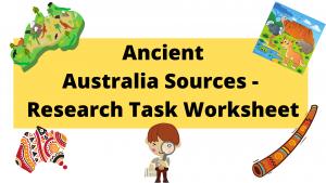 Ancient Australia Sources Investigation Worksheet